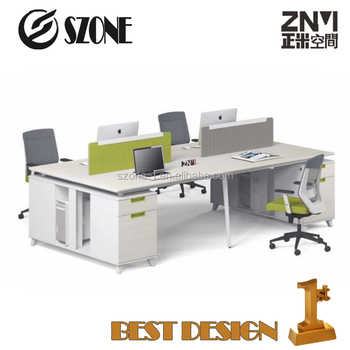 2017 4 Person office Workstation /computer office desk T-WB2414W/T WB2814W