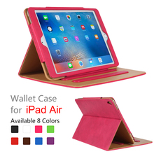 High quality case for ipad air, for ipad air case, for pu leather for ipad air case