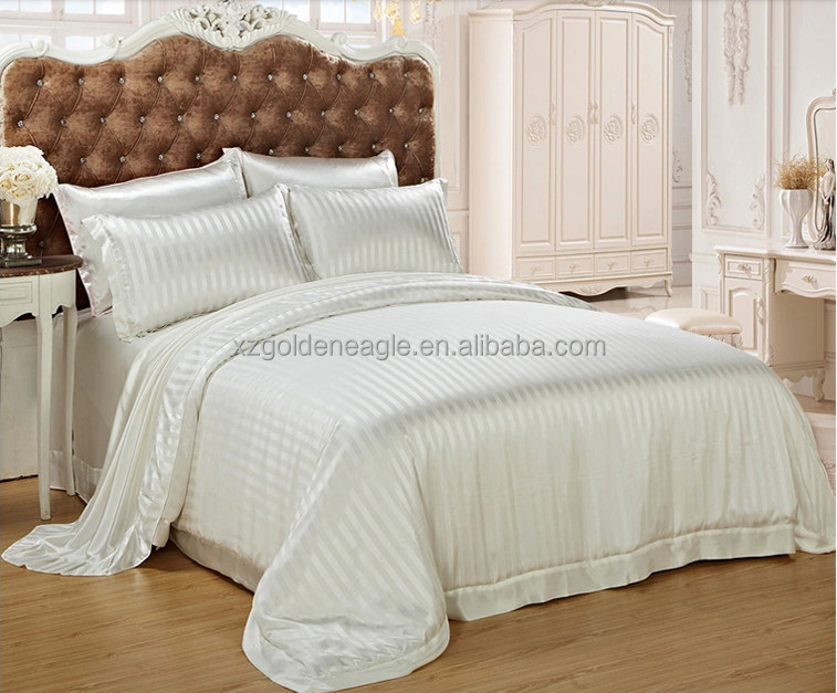 100% Luxury Silk Stripe Duvet Sets