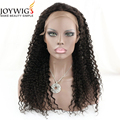 Newest style10A grade natural color kinky curly Glueless Indian Human Hair Full Lace Wig