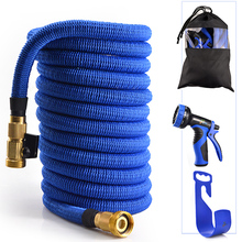 The extensible garden hose to high pressure properties and spray a longer garden flexible sprinkler hose Composed of pocket+hose