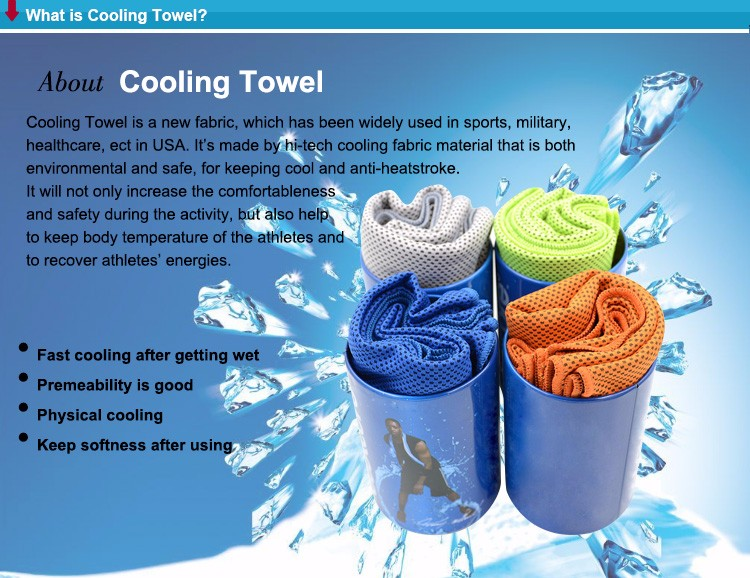 Instant Cooling Wet Cool Towel For Sports