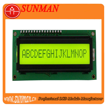 16 characters X 2 lines lcd module