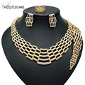 Wholesale African Negerian Women 18k Bridal Wedding Dubai Gold Plated Jewelry Set Girl Necklace