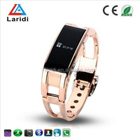 2016 Fashion lady watch bluetooth smart bracelet watch D8 with steel strap