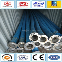 Water delivery hose pipe, flexible flange rubber hose