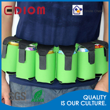 6 pack beverage can holder, wholesale portable Sports Custom neoprene 6 pack beer can holder