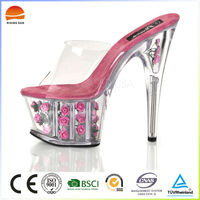 Fashion transparant super high-heeled sexy nighclub pump shoes noble dress shoes wedding shoes women sandals