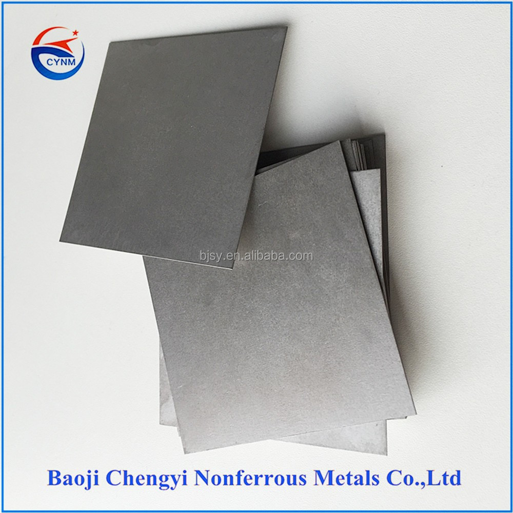 pure tungsten sheet with Low Vapor Pressure