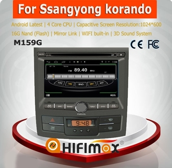 HIFIMAX Android 4.4.4 car dvd player for SsangYong Kyron Actyon WITH Capacitive screen 1080P 8G ROM WIFI 3G INTERNET DVR SUPPORT