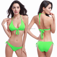Model V032 Cute Bowknotted Top 2015 Young Ladies swimwear Bikini