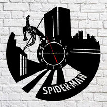 Handcraft 3D Hanging Wall Clock Marvel Hero Spiderman Emblem Home Decor Art Watch