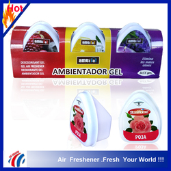hot sale 3 scents Solid Gel air freshener/ room deodorant gel/ambientador gel air freshener