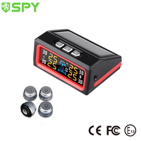 Real Time Car Tire Pressure Monitoring gauges Solar Power Wireless LCD Car Digital TPMS Measure system