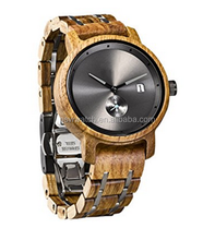 2017 Luxury branded natural wood band men's casual business wooden watch charming style