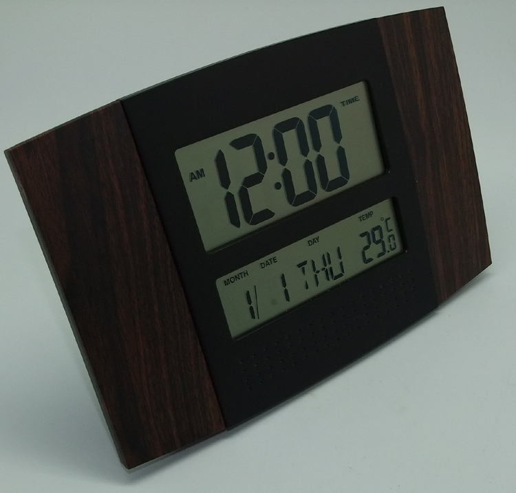 Sunny Square Radio Controlled Wood Wall Clock