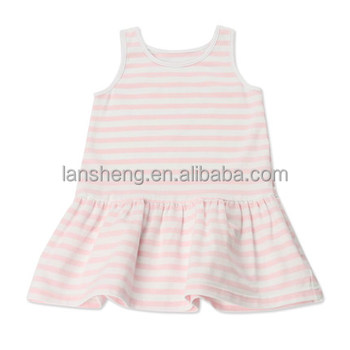 Pink Striped Tank Style Children Tunic