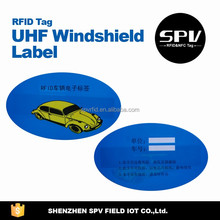 High Performance H4 ISO18000-6C 860-960MHz UHF Windshield Sticker/Label for Parking/Car/Automobile Management
