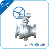 Standard Flanged End Gear Operation Handwheel Fixed Ball Valve