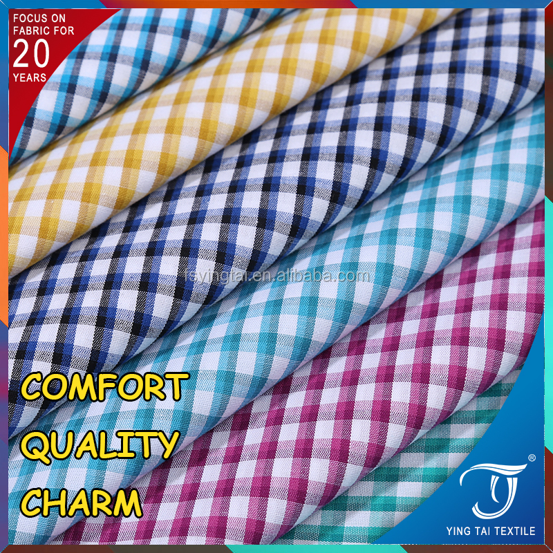 100 cotton fabric prices yarn dyed plaid stock cotton check poplin shirt fabric shirt fabric