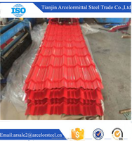 Trade assurance Full hard vairous color coated metal roofing corrugated Colored roof tile supplier