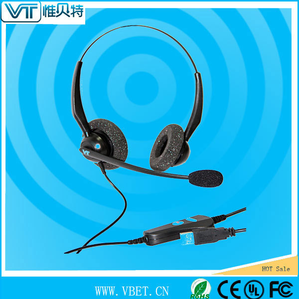 earphoone for call center for telephone operator with transparent voice tube