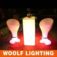 multi color wireless control led glowing bar table