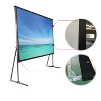 Projection Screen Portable Easy Portablen 180 inches Fast Fold Screen
