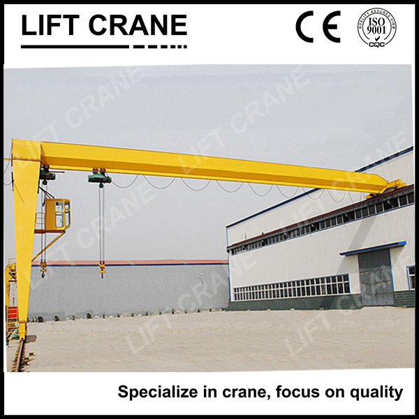 Light Lifting Task Single Girder Semi-gantry Cranes