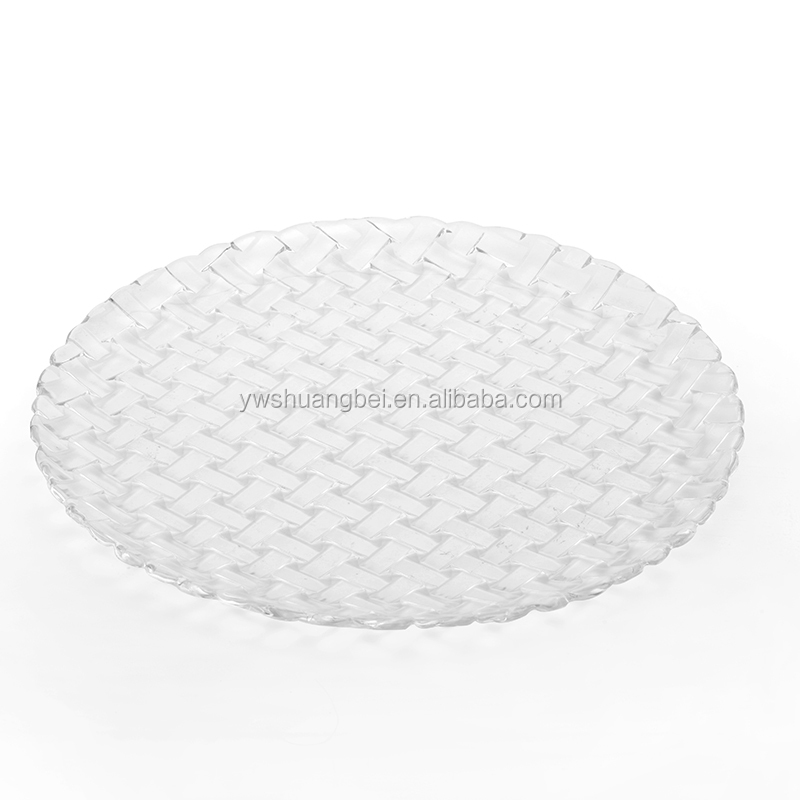 Special Design Rattan Fruit Glass Tray,Glass Plate In Dishes And Plates