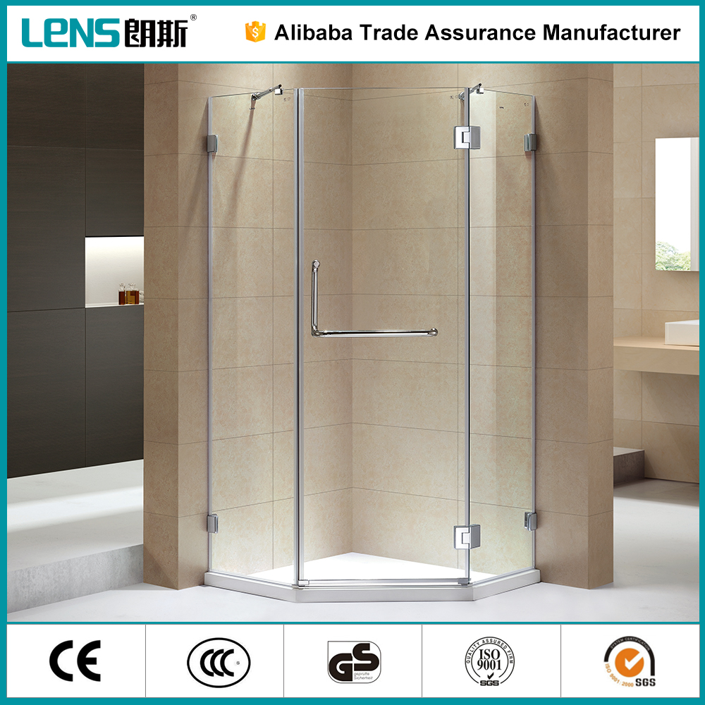 2016 New Design 304 Stainless Steel Hinge Plastic Shower Cubicle