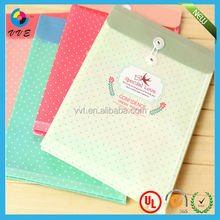 Custom printed colorful manila paper envelope with string