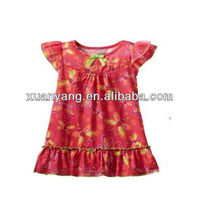 High quality Girls Dragonfly Print Nightgown