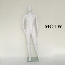 White abstract faceless plastic Standard quality fashion modeling masculine man mannequins