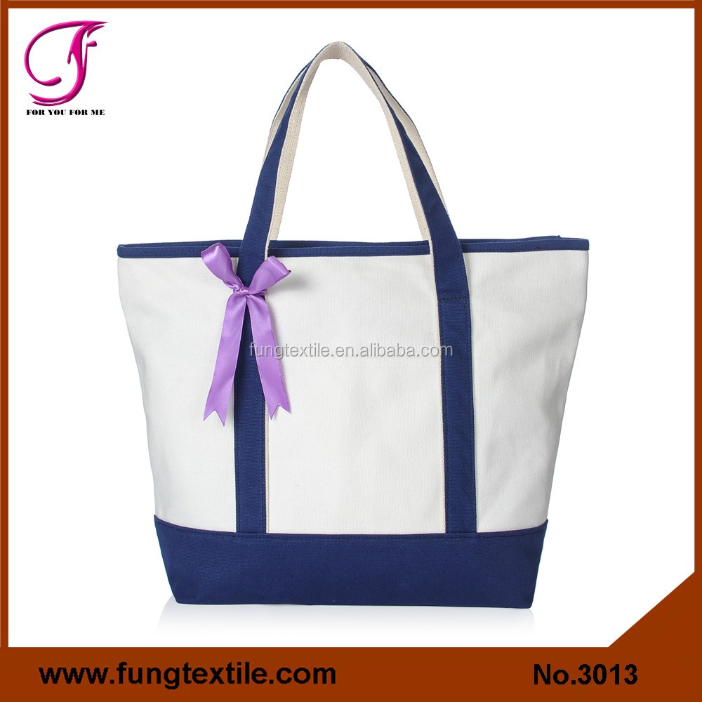 3013 Wholesale Stock Colorful Bridal Canvas Tote Bags