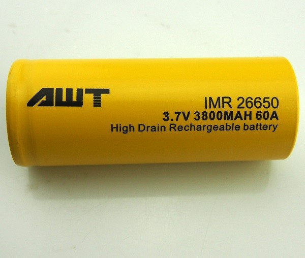 Hot Items!!! AWT 60A 26650 3800mah liion Battery 26650 3800 MAH Rechargeable Battery