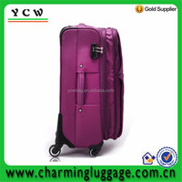 2015 good quality royal polyester trolley luggage