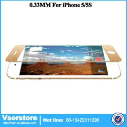 New Products for iphone5/5s titanium alloy tempered glass Wire drawing screen protector glass