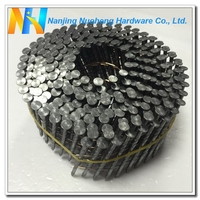 "15 Degree Screw Shank Polished Wire Coil Nail 2.3x50/2""x0.092"