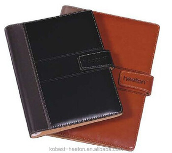 High quality office stationery leather cover loose leaf notebook