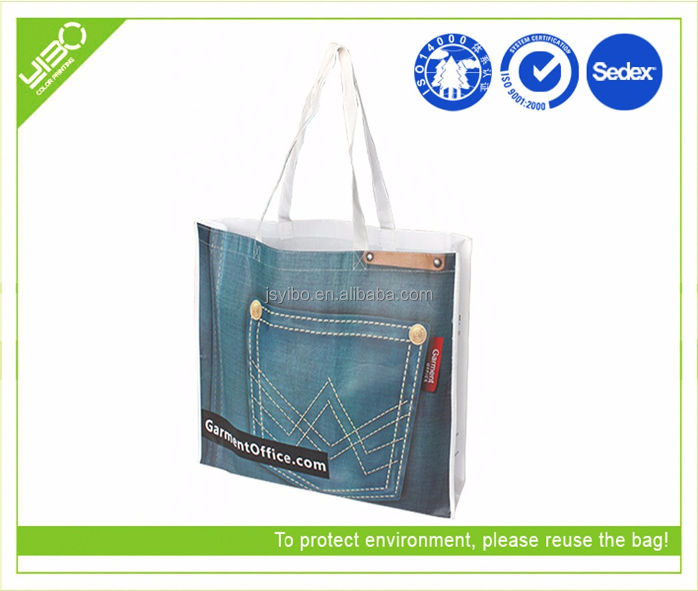 promotional non woven laminated designer shopping bags