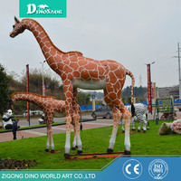 Most Popular Artificial Animatronic Giraffe Model