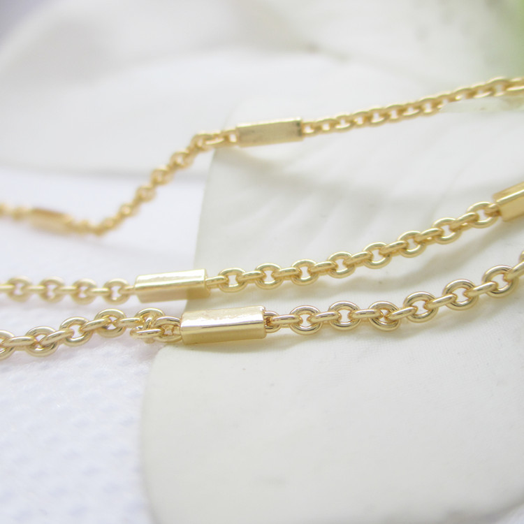 coolwin 2016 new high quality 24k gold filled <strong>chain</strong> design for jewerly,2.1mm size