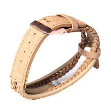 kahki fashion and charming woven leather watch bands