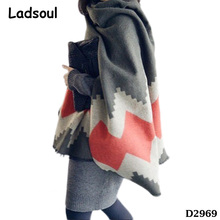 Lady Wholesale Korean Warm Print Twill Tassel Cashmere Shawls Names Of Scarf