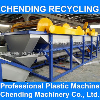 CHENDING crush wash drying recycle agriculture package waste pp pe film plastic bag recycling machine plant
