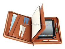 leather briefcase for Ipad, leather portfolio with tablet