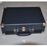 Cheap wholesale high end turntable portable suitcase record player with OEM service