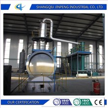 Continuous waste tyre pyrolysis oil to diesel distillation plant