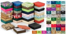 custom logo printed paper jewelry boxes packaging with offset printing